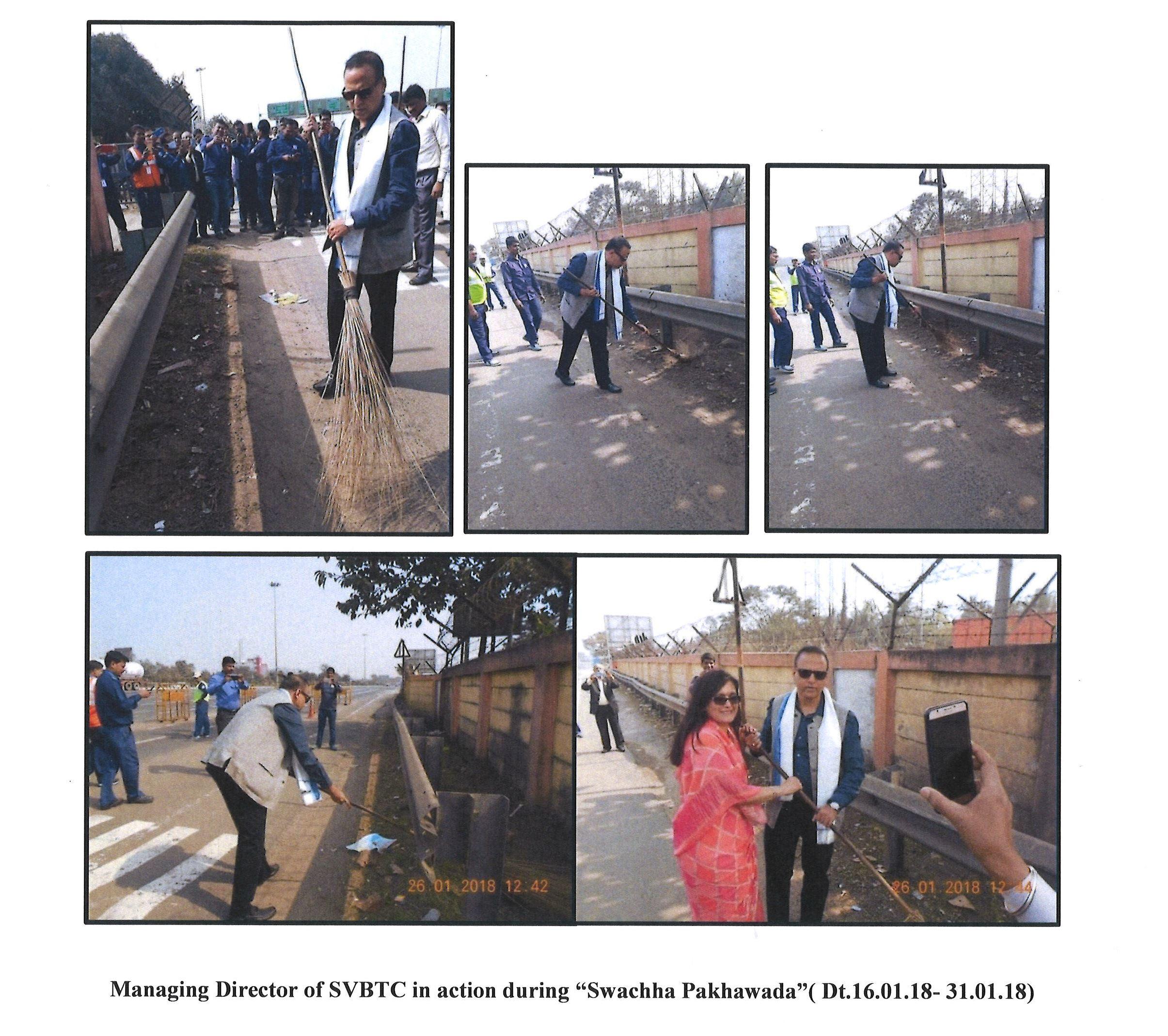 "SVBTC in action during ""Swachha Pakhawada"""